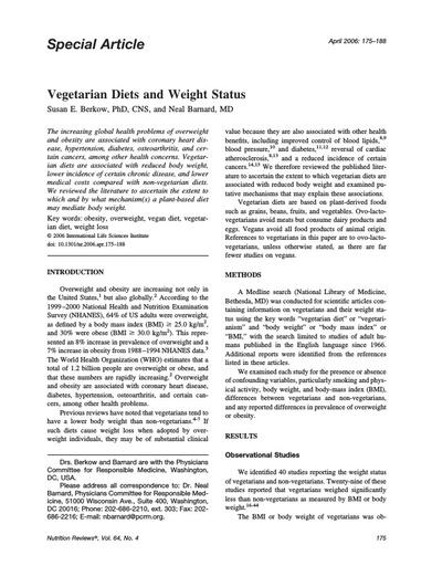 Nutrition Reviews - Perda De Peso E Alguns Nutrientes Vantajosos
