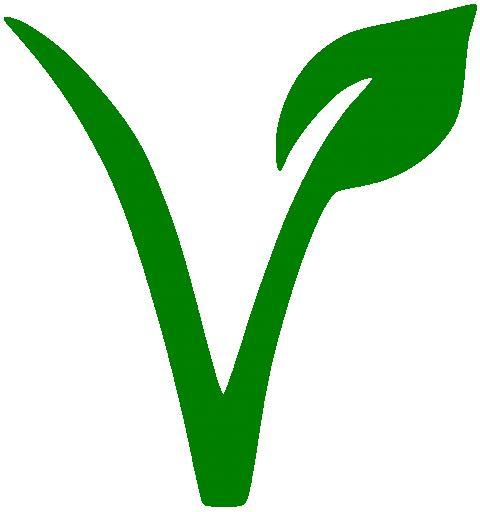 Logo V de vegano