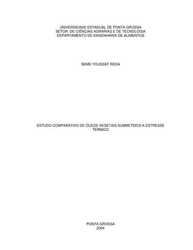 Dissertação Óleos e Oxidação Térmica