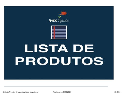 Lista Atualizada do VegAjuda - Veganismo - 22-12-2018