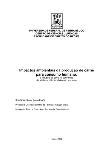 Impactos ambientais da produção de carne